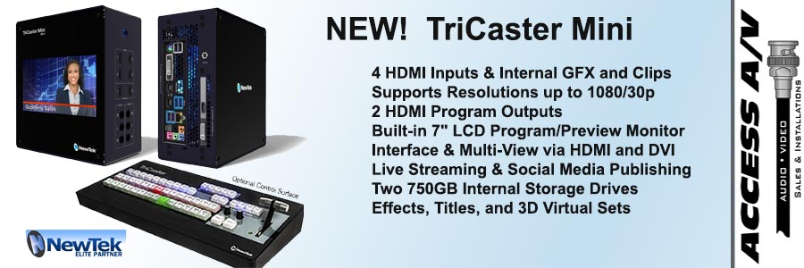 Access AV Website1 - TriCaster Mini
